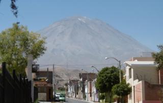 Blick auf den Vulkan Misti in Arequipa