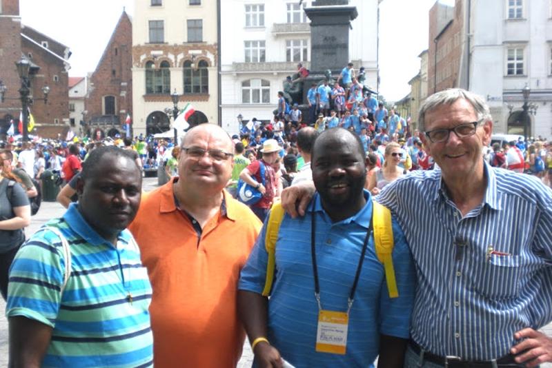 v.li.: Pater Roberto Turyamureeba, Pater Michael Zeitz, Pater Deogratias und Bruder Hans-Dieter Ritterbecks