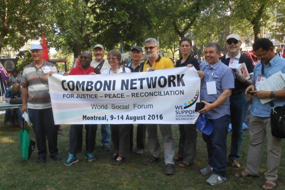 Comboni-Missionare auf dem Weltsozialforum 2016 in Montréal, Kanada